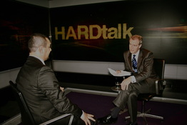 Latif Yahia and Stephen Sackur BBC HARDtalk